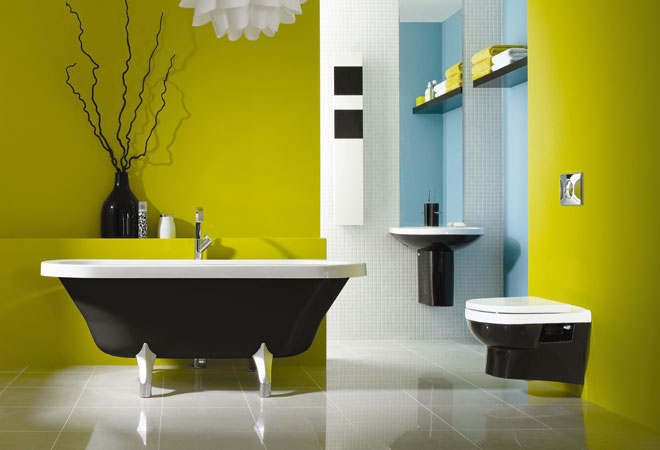 25 Cool Yellow Bathroom Design Ideas | Freshnist
