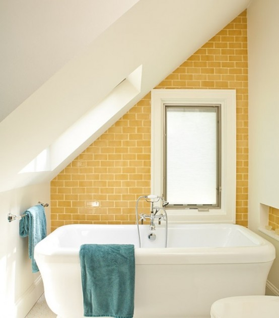 25 cool yellow bathroom design ideas freshnist for Cool bathroom themes