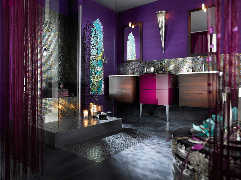 Curtains Ideas amethyst curtains : 30 Modern Bathroom Designs for Teenage Girls | Freshnist