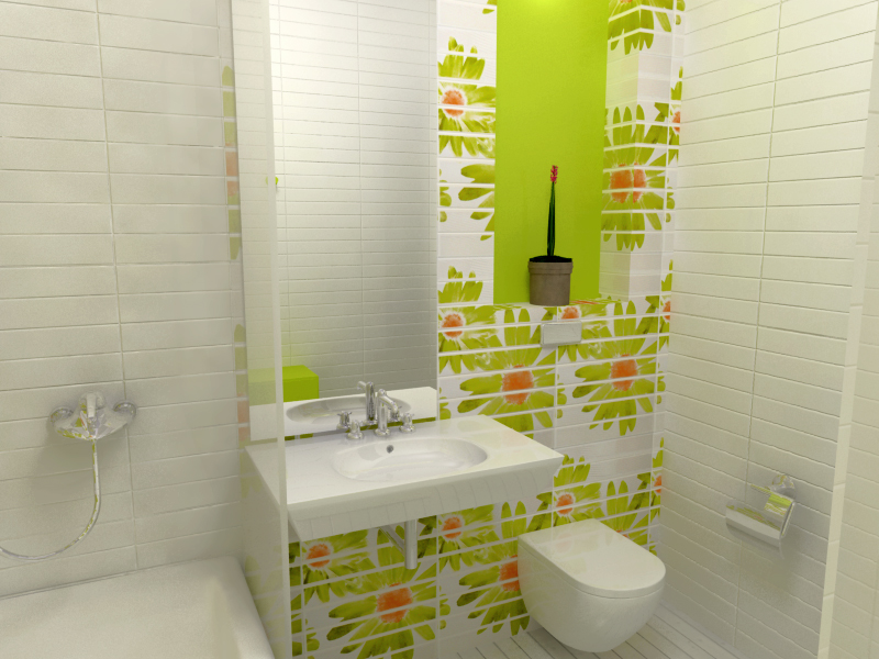 Light Green Bathroom Idea Little Girls Bath
