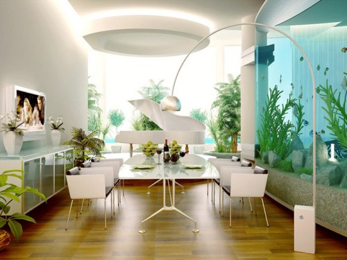 related posts dining room - Colorful Modern Dining Room