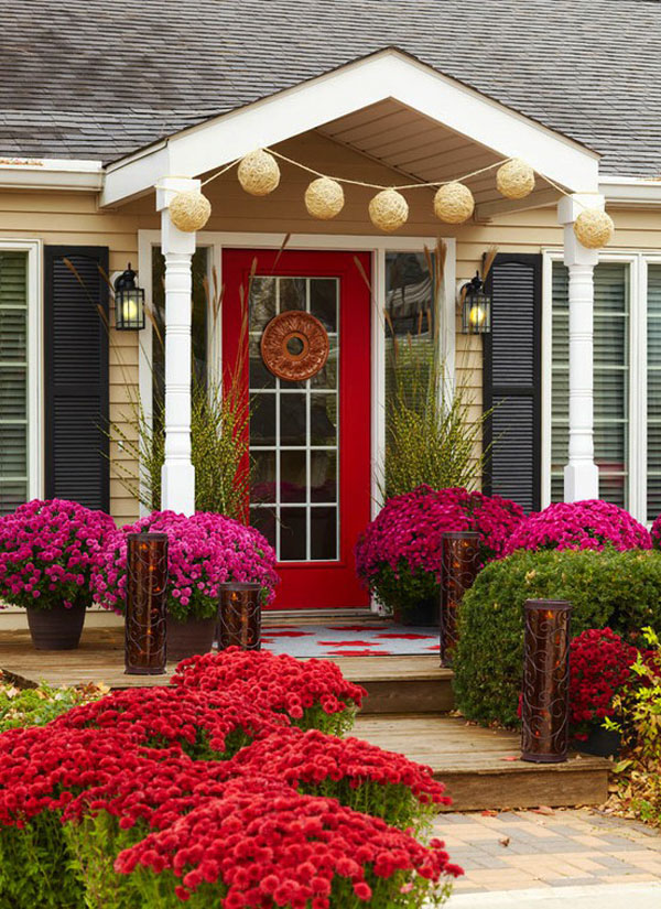52 beautiful front door decorations and designs ideas for Home front door ideas