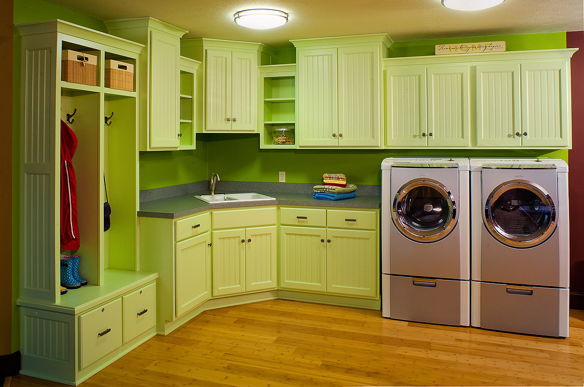 20 modern laundry room design ideas freshnist - Laundry room cabinet ideas ...