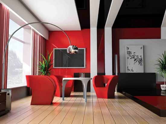 red living room designs ideas 5