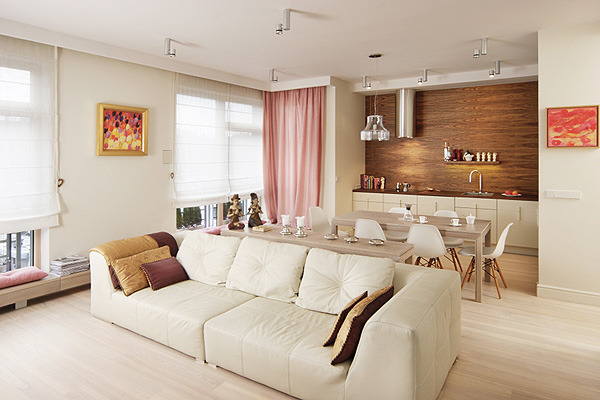 Bright and Luxury Apartment Design In Warsaw