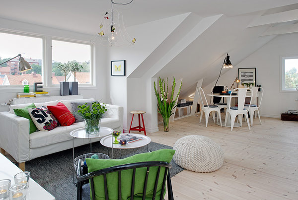 Comfortable Bright Attic Apartment in Sweden