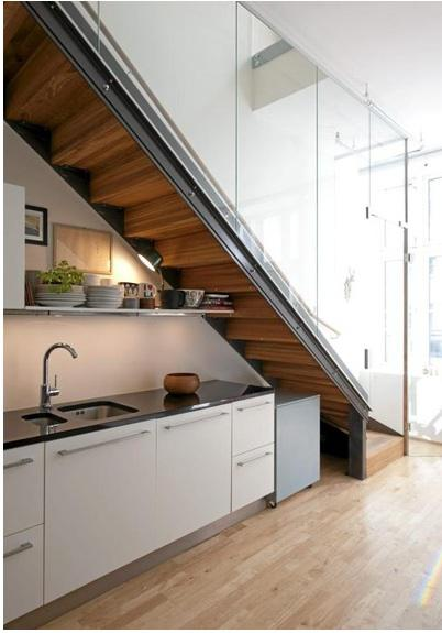 Kitchen Under Stairs Storage ~ Ideas for use space under stairs with storage freshnist