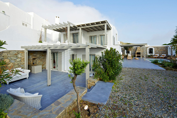 White And Modern House Design In Mykonos Island Greece