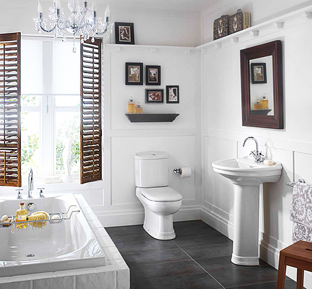 White Bathroom Decor Ideas Pictures Tips From Hgtv: Small White Colored Bathrooms To Get A Huge Functions