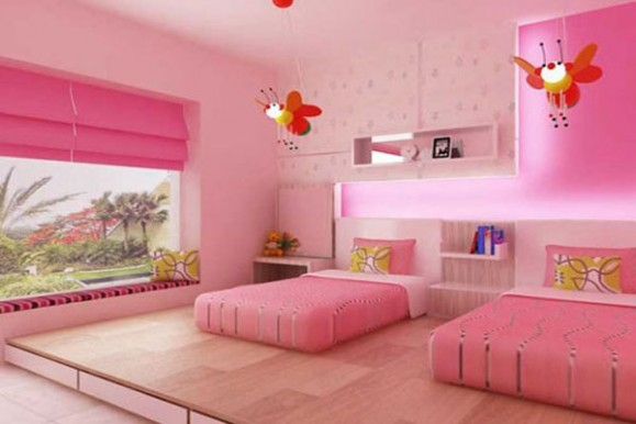 Modern ideas for twin girls bedroom in many colors freshnist Bed designs for girls