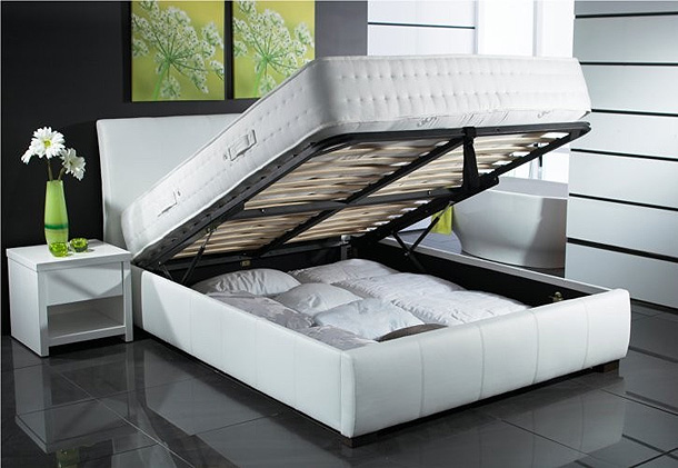 Beautiful White Color Leather Beds By Time4Sleep