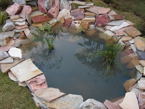 Make garden pond through amazing pond design ideas freshnist for Diy backyard pond