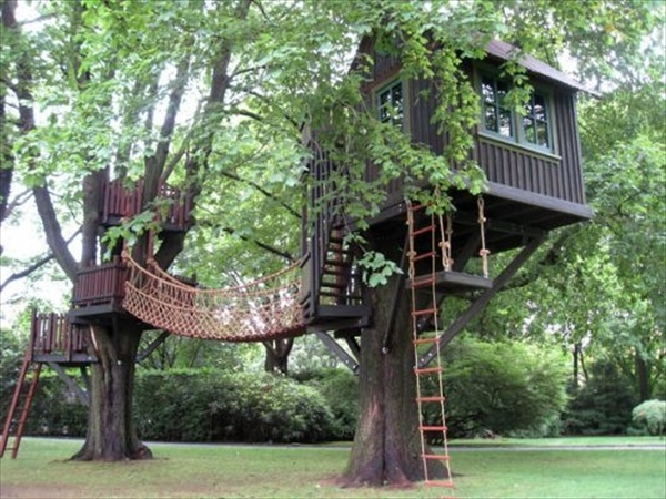 Simple Tree House Plans For Kids Source: pinterest