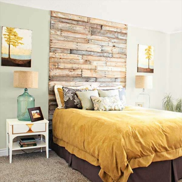 Decorates Your Bed In Pallet Headboard Budget