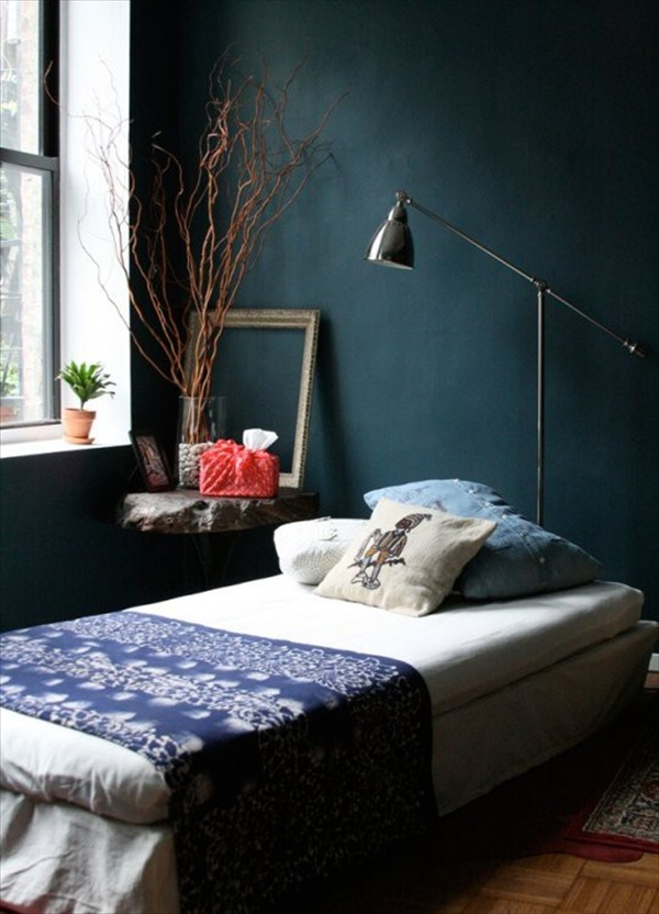 12 fabulous look teal bedroom ideas freshnist Dark paint colors for bedrooms