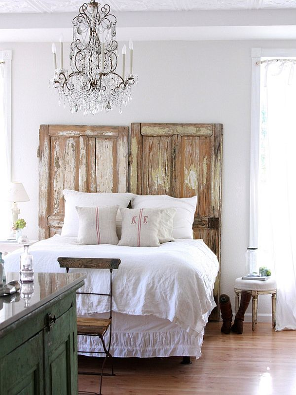 Old Door Headboard Diy Wood Headboard