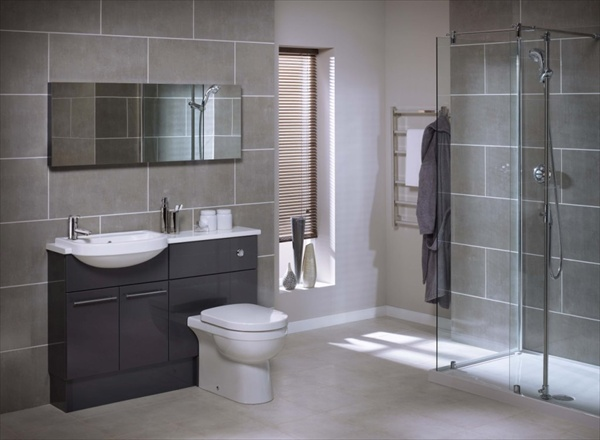 11 grey bathroom ideas freshnist for Bathroom ideas grey