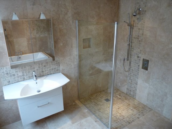 Wet room design ideas for modern bathrooms freshnist for Shower room flooring ideas