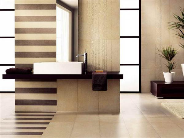 line texture master bathroom design
