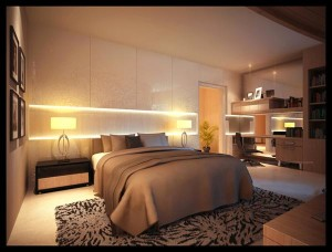 modern luxury bedroom layout