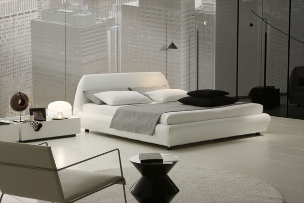 white luxury bedroom design