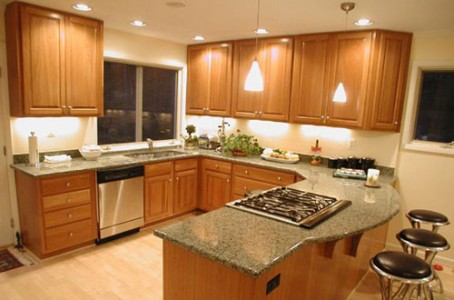 4 Stone Kitchen Design With Wooden Decorating