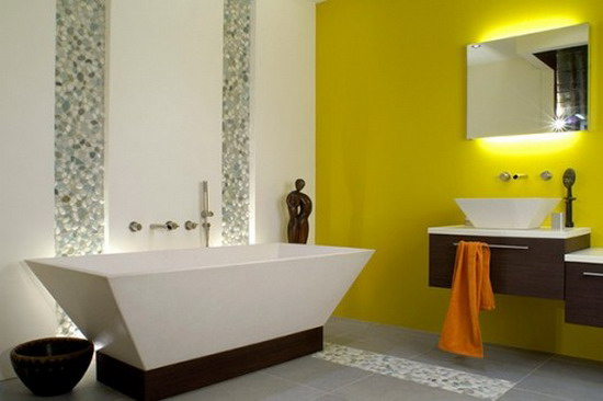 25 cool yellow bathroom design ideas freshnist for Cool bathroom decor ideas