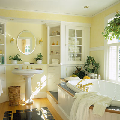 25 cool yellow bathroom design ideas freshnist for Bathroom yellow paint