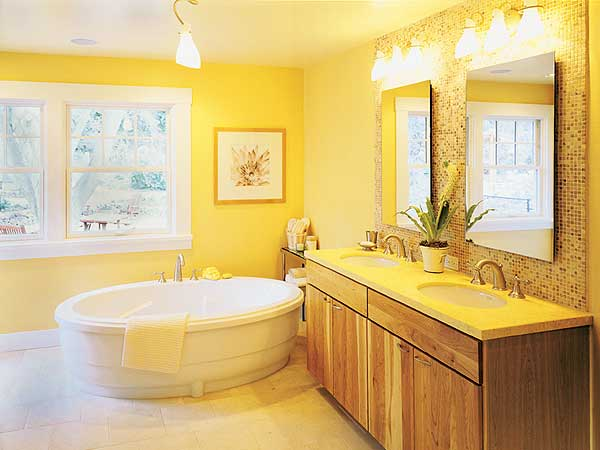 25 cool yellow bathroom design ideas freshnist Bright yellow wall paint