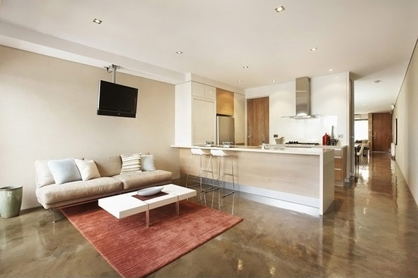Maximize use of building two townhouse by alsocan for Townhouse decorating ideas modern