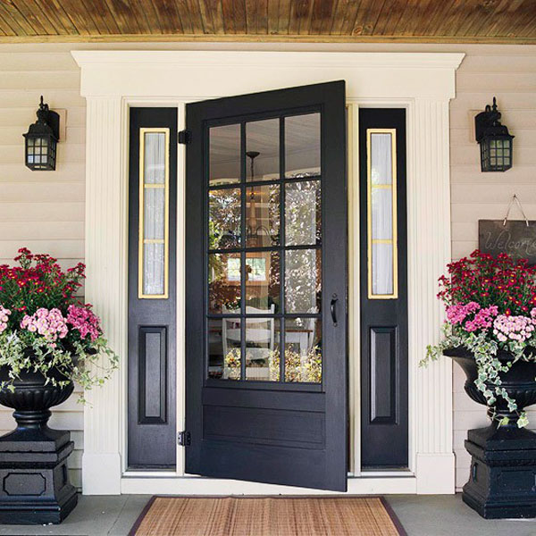 52 beautiful front door decorations and designs ideas for Front house entrance design ideas