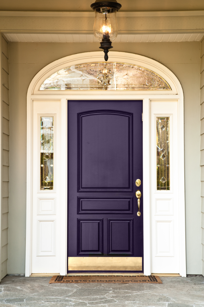 Purple Foyer Paint : Beautiful front door decorations and designs ideas