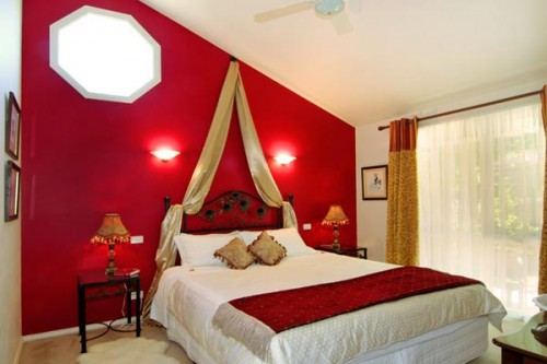 45 home interior design with red decorating inspiration for Bedroom ideas red