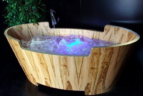 20 Modern Wooden Bathtubs Design