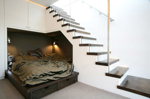 how to make storage space under stairs