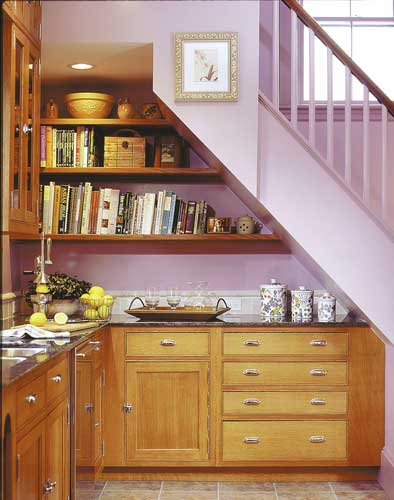 Ideas for use space under stairs with storage freshnist for Kitchen designs under stairs