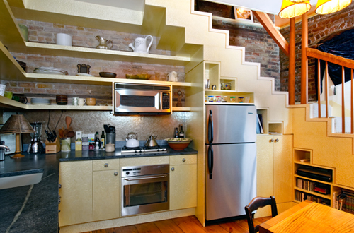 Ideas For Use Space Under Stairs With Storage   Freshnist Living  . Under Stairs Kitchen Design. Home Design Ideas