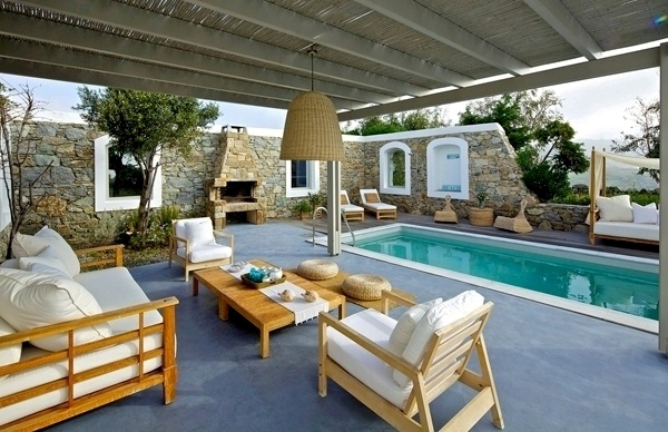 Modern House Outdoor furniture for Swimming Pool 5