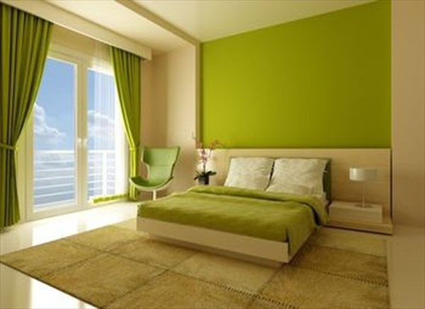 room of a home especially with the bedroom green bedrooms depict a