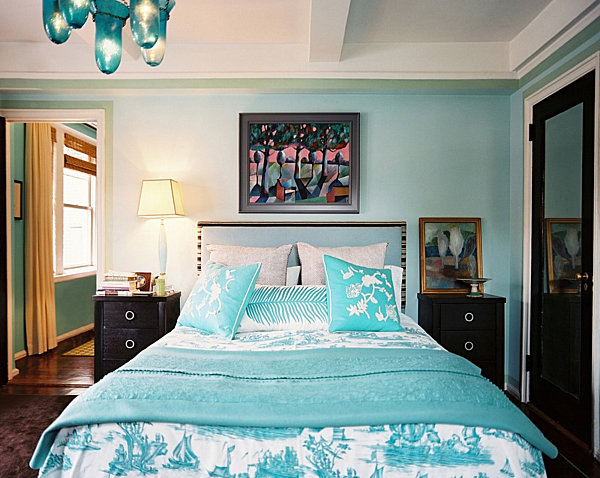 Teal bedroom designs
