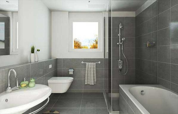 11 grey bathroom ideas freshnist for Bathroom ideas gray tile