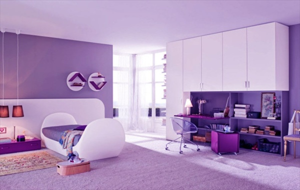 Teenage girls bedrooms how to decorate your room freshnist - Modern purple bedroom colors ...