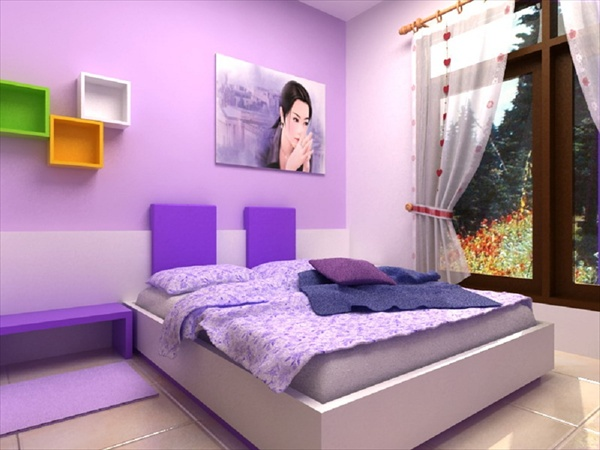 Teenage girls bedrooms how to decorate your room freshnist for Violet bedroom designs