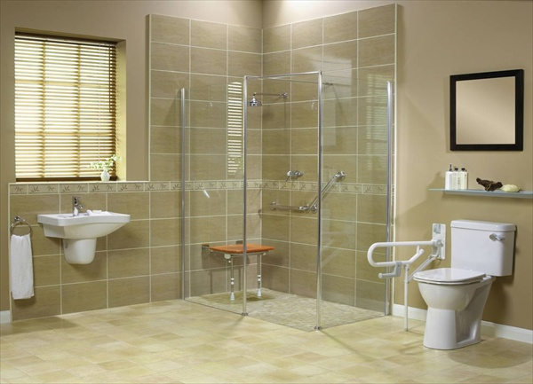 Wet room design ideas for modern bathrooms freshnist for Wet floor bathroom designs