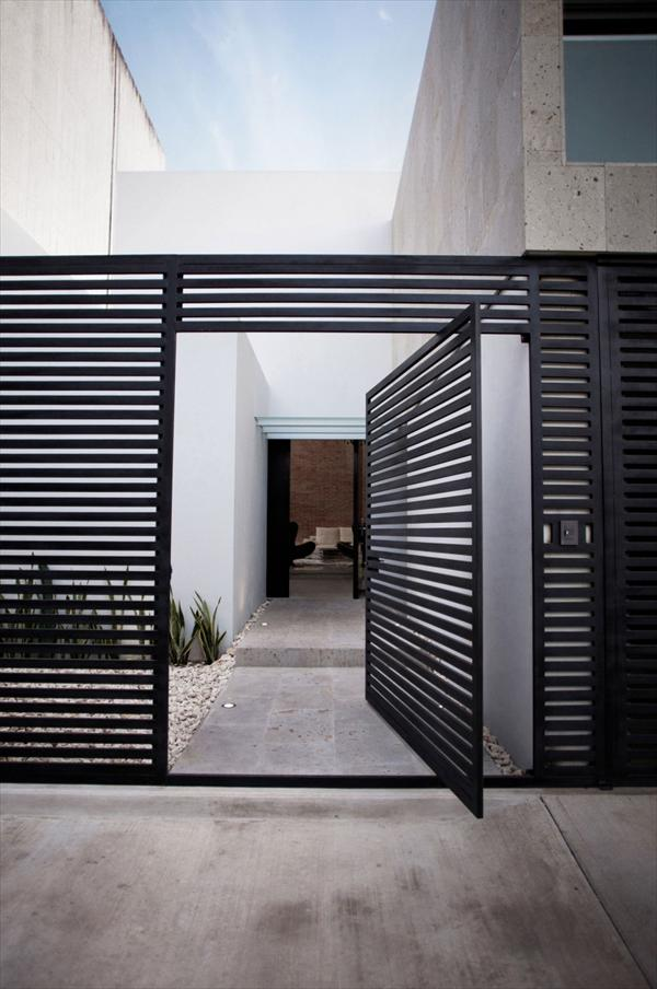 Modern home entrace