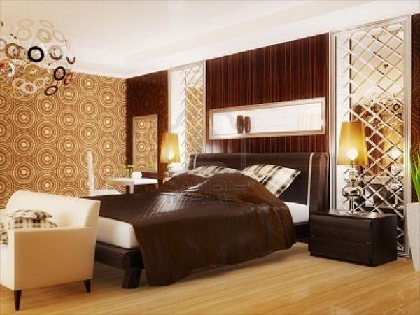 modern luxury bedroom model